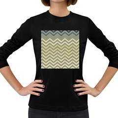 Abstract Vintage Lines Women s Long Sleeve Dark T Shirts