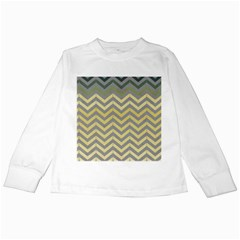 Abstract Vintage Lines Kids Long Sleeve T Shirts