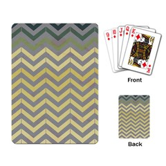 Abstract Vintage Lines Playing Card
