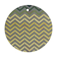 Abstract Vintage Lines Round Ornament (two Sides)