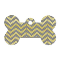 Abstract Vintage Lines Dog Tag Bone (one Side)