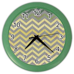 Abstract Vintage Lines Color Wall Clocks