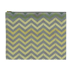 Abstract Vintage Lines Cosmetic Bag (xl)
