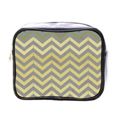Abstract Vintage Lines Mini Toiletries Bags