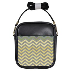 Abstract Vintage Lines Girls Sling Bags