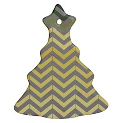 Abstract Vintage Lines Christmas Tree Ornament (two Sides)