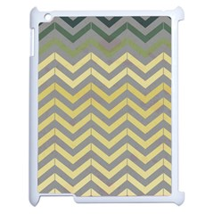Abstract Vintage Lines Apple Ipad 2 Case (white)