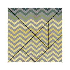 Abstract Vintage Lines Acrylic Tangram Puzzle (6  X 6 )