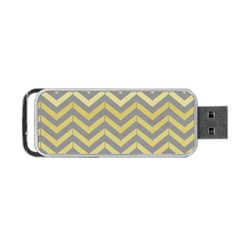 Abstract Vintage Lines Portable USB Flash (One Side)