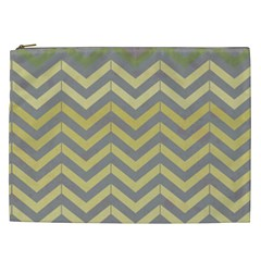 Abstract Vintage Lines Cosmetic Bag (xxl)