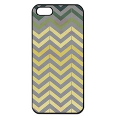 Abstract Vintage Lines Apple Iphone 5 Seamless Case (black)