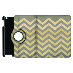 Abstract Vintage Lines Apple iPad 3/4 Flip 360 Case