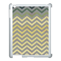 Abstract Vintage Lines Apple iPad 3/4 Case (White)