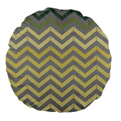 Abstract Vintage Lines Large 18  Premium Round Cushions