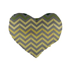 Abstract Vintage Lines Standard 16  Premium Heart Shape Cushions