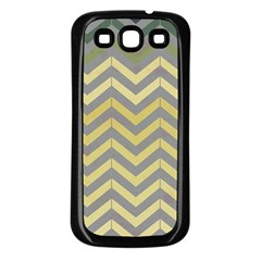 Abstract Vintage Lines Samsung Galaxy S3 Back Case (black)