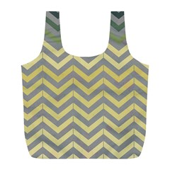 Abstract Vintage Lines Full Print Recycle Bags (l)