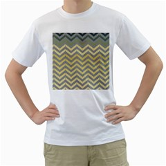 Abstract Vintage Lines Men s T-Shirt (White)