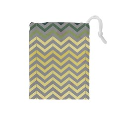 Abstract Vintage Lines Drawstring Pouches (medium)