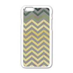 Abstract Vintage Lines Apple Iphone 6/6s White Enamel Case