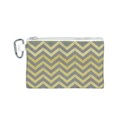 Abstract Vintage Lines Canvas Cosmetic Bag (s)