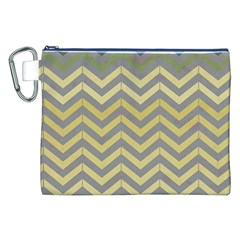 Abstract Vintage Lines Canvas Cosmetic Bag (xxl)