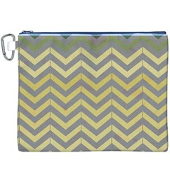 Abstract Vintage Lines Canvas Cosmetic Bag (xxxl)