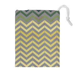 Abstract Vintage Lines Drawstring Pouches (extra Large)