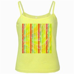 Colorful Abstract Stripes Circles And Waves Wallpaper Background Yellow Spaghetti Tank