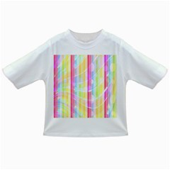 Colorful Abstract Stripes Circles And Waves Wallpaper Background Infant/toddler T Shirts
