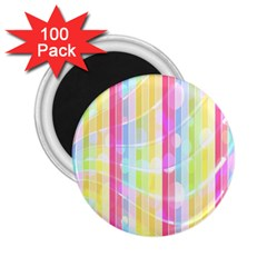Colorful Abstract Stripes Circles And Waves Wallpaper Background 2 25  Magnets (100 Pack)