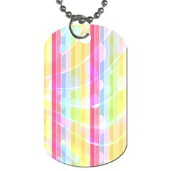 Colorful Abstract Stripes Circles And Waves Wallpaper Background Dog Tag (one Side)