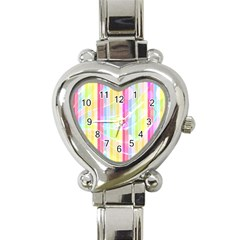 Colorful Abstract Stripes Circles And Waves Wallpaper Background Heart Italian Charm Watch