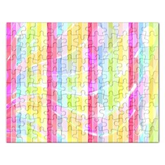 Colorful Abstract Stripes Circles And Waves Wallpaper Background Rectangular Jigsaw Puzzl