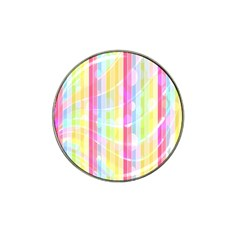 Colorful Abstract Stripes Circles And Waves Wallpaper Background Hat Clip Ball Marker (4 Pack)