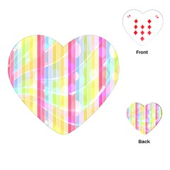 Colorful Abstract Stripes Circles And Waves Wallpaper Background Playing Cards (heart)