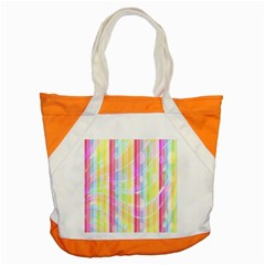 Colorful Abstract Stripes Circles And Waves Wallpaper Background Accent Tote Bag