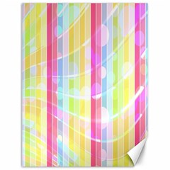 Colorful Abstract Stripes Circles And Waves Wallpaper Background Canvas 12  X 16