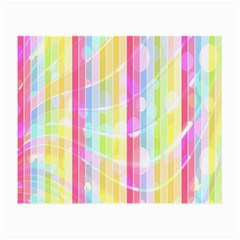 Colorful Abstract Stripes Circles And Waves Wallpaper Background Small Glasses Cloth (2 Side)
