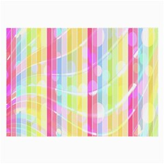 Colorful Abstract Stripes Circles And Waves Wallpaper Background Large Glasses Cloth (2 Side)
