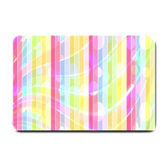 Colorful Abstract Stripes Circles And Waves Wallpaper Background Small Doormat