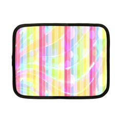 Colorful Abstract Stripes Circles And Waves Wallpaper Background Netbook Case (Small)