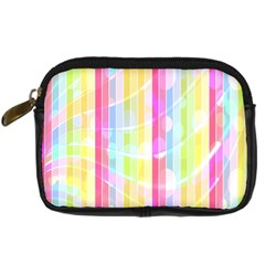 Colorful Abstract Stripes Circles And Waves Wallpaper Background Digital Camera Cases
