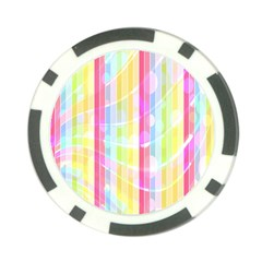 Colorful Abstract Stripes Circles And Waves Wallpaper Background Poker Chip Card Guard (10 Pack)
