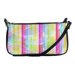 Colorful Abstract Stripes Circles And Waves Wallpaper Background Shoulder Clutch Bags