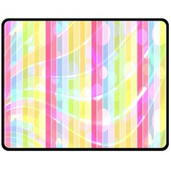 Colorful Abstract Stripes Circles And Waves Wallpaper Background Fleece Blanket (Medium)