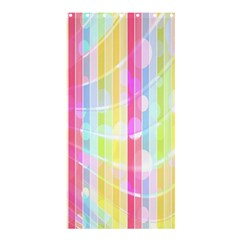 Colorful Abstract Stripes Circles And Waves Wallpaper Background Shower Curtain 36  X 72  (stall)