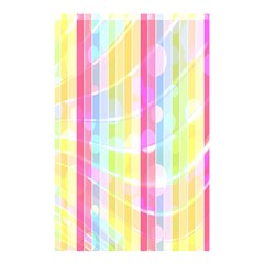 Colorful Abstract Stripes Circles And Waves Wallpaper Background Shower Curtain 48  X 72  (small)