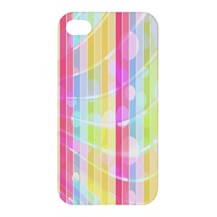Colorful Abstract Stripes Circles And Waves Wallpaper Background Apple Iphone 4/4s Premium Hardshell Case