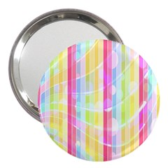 Colorful Abstract Stripes Circles And Waves Wallpaper Background 3  Handbag Mirrors